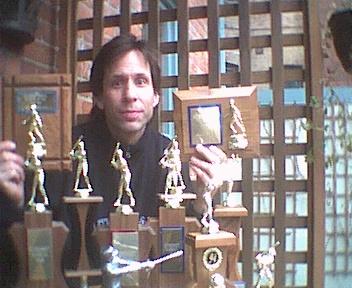 John Carter and his Scoresheet trophies